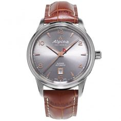 Alpina Alpiner Steel Anthracite/Rose Dial Automatic Men's Strap Watch