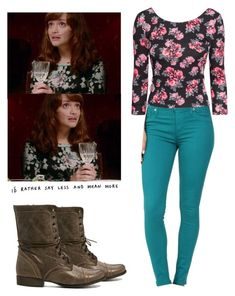 """""""Emma Decody - Bates Motel"""" by shadyannon ❤ liked on Polyvore featuring Hudson, H&M and Steve Madden"""