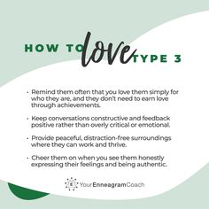 Enneagram Type 3, Enneagram Test, Infp, E Type, Better Love, Mbti, Personality Types, Best Self, Affirmations