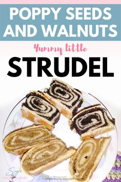 Little Strudel With Poppy Seeds And Walnuts - Single Mom's Way Healthy Food, Yummy Food, Healthy Recipes, Bread Shaping, Gluten Free Vegetarian Recipes, Low Calorie Dinners, Sweet Dough, Recipe Share, Mixed Nuts