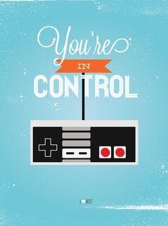 Colorful Retro 1980's Vintage Print - Video Game Controller. via Etsy.