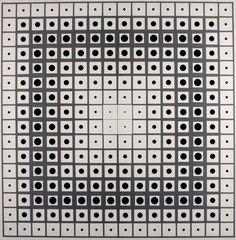 Double Progression- Acrylique sur toile - 200 x 200 Cm - 1959-1991