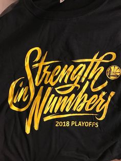 Rare Golden State Warriors 2018 Playoffs Game T-Shirt XL Brand New-caught   c425d560e