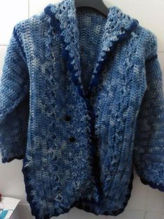 Cardigan au crochet fait-main : Manteau, Blouson, veste par crochet-et-bijoux-unique