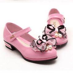 春キッズ女の子ハイヒール用パーティー花ピンク靴アンクルストラップ雪の女王子供女の子パンプス靴chaussureギャルソン803(China (Mainland))