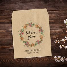 Peach Peony Wedding Favor Seed Packets – W-A163