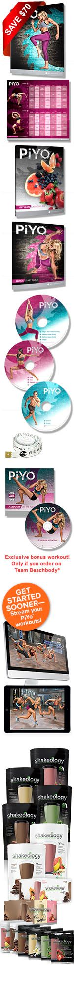 Piyo will give you results that you have always wanted and without the impact of most workout programs!!!!