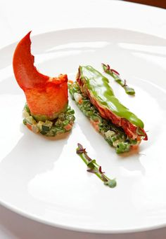 Parisienne blue lobster, carcass juice, lemon mayonnaise at Saint James Paris via Relais Chateaux