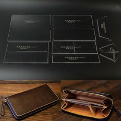 Details about Leather Craft Clear Acrylic Clutch bag handbag Pattern Stencil Template Tool set,