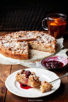 Bezglutenowa i wegańska szarlotka orzechowa Healthy Cake, Vegan Cake, Gluten Free Desserts, Gluten Free Recipes, Vegan Biscuits, Biscuit Cake, Polish Recipes, Polish Food, Something Sweet