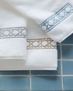 Cane-Embroidered+Towels+by+Matouk+at+Horchow.