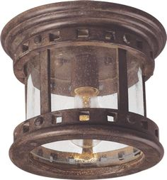 View the Maxim 3130CD Santa Barbara DC 1 Light Flush Mount Outdoor Ceiling Fixture - Glass Shade Included at LightingDirect.com.