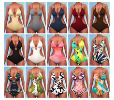 My Sims 4 Blog: Bras and Swimwear by Chisami