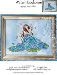Water Goddess Cross Stitch Pattern (JE021) Embroidery Patterns by Joan Elliott