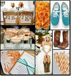 love the orange & blue color combo