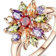 Anillos de Oro 18K Rose Gold Plated Finger Ring for Women with AAA Multicolor Cubic Zircon Wedding Berloque (8)
