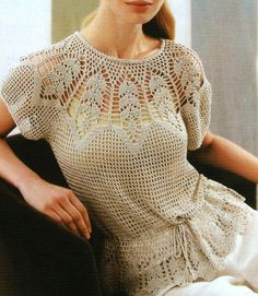 summer crochet blouse