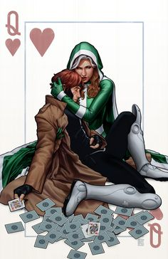 queen of hearts by ~johntylerchristopher Rouge and Gambit!