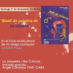 Música y algunas letras para leer de mi último libro...Evento gratuito/ Domingo 1º diciembre 21.00 hs...Angal Carranza 1969/ Ciudad de Buenos Aires
