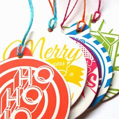 Letterpress Christmas Tree Ornaments and by oliveandthevolcano, $10.00