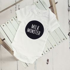 Milk Monster Baby Grow - baby shower gifts