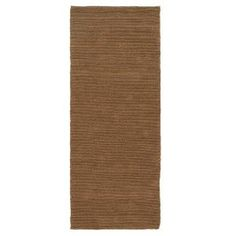 Home Decorators Collection Banded Jute Dark Natural 3 ft. x 8 ft. Runner-0600240960 at The Home Depot 5 star 79
