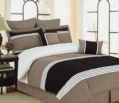 8pc Wly Taupe Comforter Set Size: King