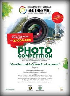 #Competition #PhotoCompetition #IIGCE #LombaFoto #KompetisiFotografi Photo Competition 2015 Indonesia International Geothermal Convention and Exhibition  DEADLINE: August 5th, 2015  http://infosayembara.com/info-lomba.php?judul=photo-competition-2015-indonesia-international-geothermal-convention-and-exhibition