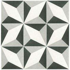 Merola Tile Twenties Diamond 7-3/4 in. x 7-3/4 in. Ceramic Floor and Wall Tile-FRC8TWED at The Home Depot