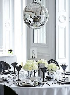 Glitter Ball Table Setting  Great for NYE