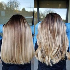"""3,267 Likes, 45 Comments - Amy (@camouflageandbalayage) on Instagram: """"Straight vs Wavy So many clients love the dimension of Hilites and balayage but they don't…"""""""