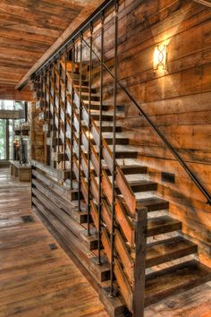 17 Splendid Rustic Staircase Designs To Inspire You With Ideas Modern Staircase Designs ideas inspire Rustic Splendid Staircase Staircase Railing Design, Rustic Staircase, Open Staircase, Stair Handrail, Staircase Ideas, Rebar Railing, Iron Railings, Stair Design, Banisters