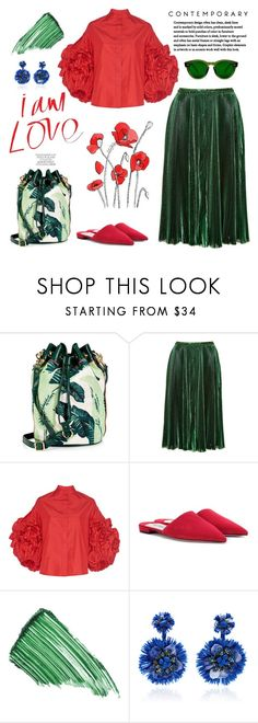 """Green Spring!"" by erindream ❤ liked on Polyvore featuring Juicy Couture, Rochas, Dice Kayek, Prada, By Terry and Ranjana Khan"