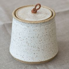 Much better than Mason jars. Handmade Ceramic Lidded Jar
