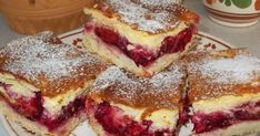 Mennyei Krémes szilvás pite recept! más puha gyümölcsből is érdemes kipróbálni Hungarian Desserts, Hungarian Recipes, Yummy Treats, Delicious Desserts, Yummy Food, Cookie Recipes, Dessert Recipes, Czech Recipes, Baking And Pastry