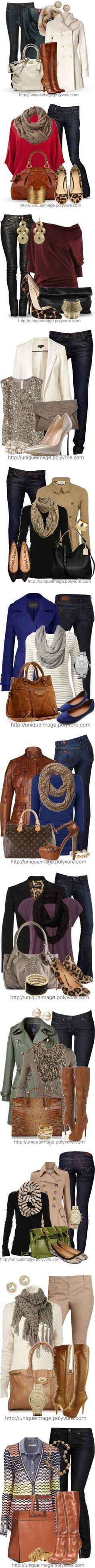 Fall/Winter Outfit Ideas. Lots of fab ideas here.