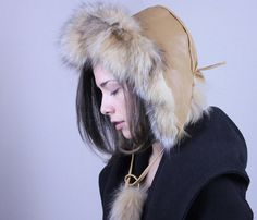 Quality Handmade Unisex Trapper Fur Hat The modern by thepstore, $114.00