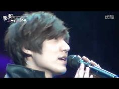 "20111205 ; Lee Min Ho singing ""My Everything"" in Asia tour Beijing Railw..."