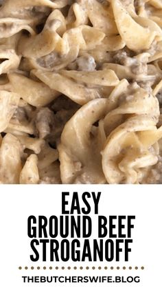 Fast and Easy Ground Beef Stroganoff is comfort food meant for kids! This dish has a creamy sauce with ground beef paired with the tender noodles. Comfort Food Meaning, Easy Ground Beef Stroganoff, New Cooking, Cooking Ideas, Stroganoff Recipe, How To Cook Eggs, Beef Dishes, Ground Beef Recipes, Meals For The Week