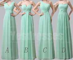 Mint bridesmaid dresses, long bridesmaid dresses, mismatched bridesmaid dresses, bridesmaid dress, simple bridesmaid dresses, PD15023
