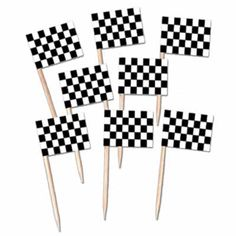 Monster truck party - checkered flag party picks