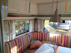 My own happy caravan Vintage Campers Trailers, Vintage Caravans, Travel Trailers, Camper Interior, Interior And Exterior, Airstream, Motorhome, Accessoires Camping Car, Eriba Puck