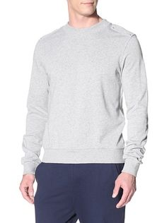 66% OFF adidas SLVR Men's French Terry Crew Sweatshirt (Medium Grey Heather)