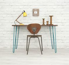 IROKO HAIRPIN LEGS RETRO VINTAGE INDUSTRIAL MID CENTURY DESK TABLE EAMES ERA 60s | eBay