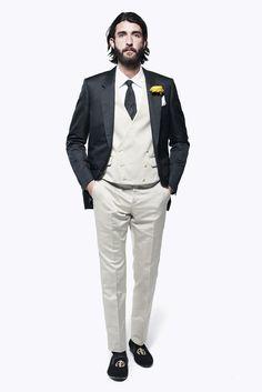 Alexander McQueen Spring/Summer 2013. With Fitzwilliam Darcy waistcoat.