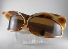Vintage Sunglasses Ultra Mod Cats Eye Visors Frame Italy 1966 Collectors Item