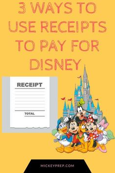 3 ways to use Receipts to pay for a Disney Vacation! Tips and tricks to help you pay for a Disney vacation for absolutely free!