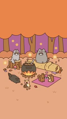 Pusheen and friends fall Background/Wallpaper iPhone X Wallpaper 439734351113842749 Cute Backgrounds, Cute Wallpapers, Iphone Backgrounds, Kawaii Drawings, Cute Drawings, Kawaii Wallpaper, Iphone Wallpaper, Fall Background Wallpaper, Cute Fall Wallpaper