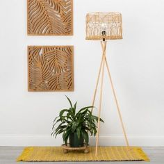 Rattan Tripod Floor Light Natural (Lamp Only) - Opalhouse™ Cost Of Laminate Flooring, Vinyl Plank Flooring, Flooring Options, Wood Flooring, Natural Lamps, Unique Floor Lamps, Global Home, Metal Wall Decor, Lights