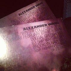 Fashion Invite: Alexander Wang Fall/Winter RTW 2014 - NYFW